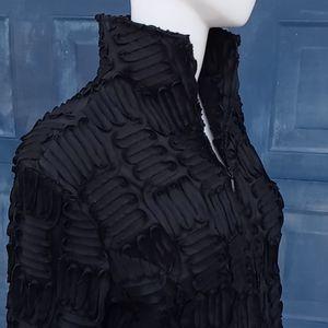 Samuel Dong  Sheenribbon Textured Blazer/Jacket